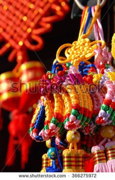 Chinese lunar new year decorations, traditional colorful handicraft shoes celebrates good luck and safe journey
