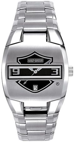I bought this watch for my Husband for Christmas and he loves it! Harley-Davidson® 76B35 Flip Face Watch byBulova®