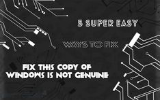 "The 5 super easy ways that you can try to fix the error ""this copy of windows is not genuine build 7601"". If you want to get rid of this trouble then do read this complete article and fix Windows is not genuine error."