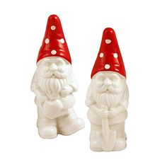 Gnome Couple Salt & Pepper Set   dotandbo.com