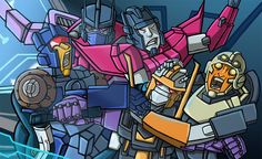 Voltron & Transformers / MTMTE crossover. See more of my work here: https://www.patreon.com/concept_hen