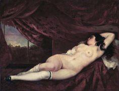 "Gustave Courbet, ""Femme Nue Couchée,"" 1862"