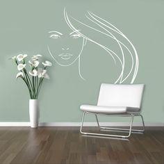 Beauty Salon Vinyl Decal Hair Salon Wall Sticker Shop Window Decor Wall Home Interior Bedroom Murals 7(hs)