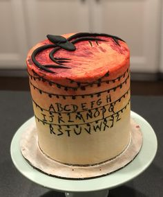 I made a Stranger Things cake. Tried to incorporate both seasons. #baking #cooking #food #recipes #cake #desserts #win #cookies #recipe #cakes #cupcakes