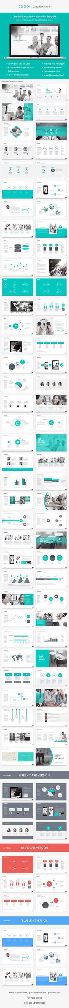 Odra Powerpoint Template — Powerpoint PPT #template #agency • Available here → https://graphicriver.net/item/odra-powerpoint-template/8336335?ref=pxcr