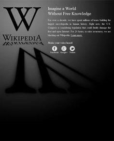 Wikipedia #SOPA