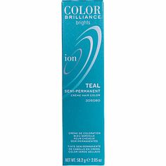 Ion Color Brilliance Brights Semi-Permanent Hair Color Teal #SallyBeauty