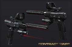 New guns (Five-seveN, HK243, QBU-88), Nikita Buyanov on ArtStation at https://www.artstation.com/artwork/new-guns-five-seven-hk243-qbu-88