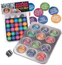 Super Quarters Drinking Game ... This could be a DIY game