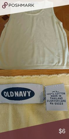 Old navy tank top. Old Navy tank top. Sunshine yellow. Excellent condition. Smoke free home. Womens size XL Old Navy Tops Tank Tops