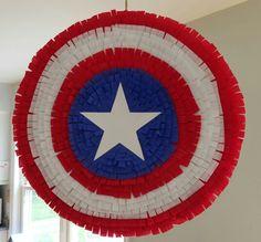 Captain America shield piñata