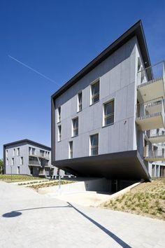 Condo in Belgium with panelized facade. B612 associates. EQUITONE facade materials. equitone.com