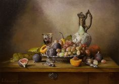 Still life with grapes and figs Painting Fruit Photography, Still Life Photography, Fruit Painting, Oil Painting On Canvas, Still Life Pictures, Still Life Fruit, Still Life Oil Painting, Fruit Art, Painting Inspiration