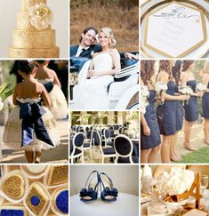 Helllppp!!! W| wedding theme colors!! :  wedding Navy Blue Gold Wedding Inspiration Board Champagne Sweets