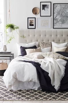 Beige is the New Black: 18 Ideas on How to Use Neutral Colors_See More Inspiring Articles At: http://www.homedesignideas.eu/beige-new-black-ideas-use-neutral-colors/ #Bedroom #ChairForBedroom