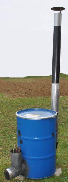 Rocket Drum Stove