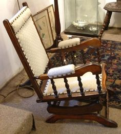 An Edwardian Walnut Child's Rocking Chair | 398141 | Sellingantiques.co.uk