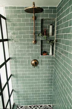 Tivoli 3 x 6 Ceramic Subway Tile 220465344246723945 Eclectic Bathroom, Bathroom Interior Design, Bathroom Styling, Decor Interior Design, Modern Bathroom, Parisian Bathroom, Minimal Bathroom, Restroom Design, Simple Bathroom