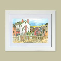 All Products • gorgeous gifts from the Seaside Emporium Pastel Colors, Colours, Seaside Village, Watercolour Painting, Original Paintings, Coast, Drawings, Holiday, Prints