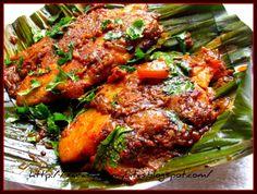 Meen pollichathu/ Fish fry in plantain leaf wrap ~ Saras's Kitchen