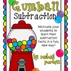 Sunday Save Day {Gumball Subtraction} - motivation game to learn subtraction facts Subtraction Kindergarten, Kindergarten Addition, Math Fact Fluency, Fluency Practice, 1st Grade Math, Second Grade, Grade 2, Daily 5 Math, Math Classroom