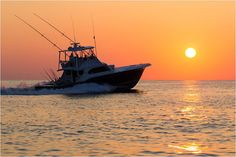 Matt Lusk Photography / Etsy  Store / Morning Commute / Sport fishing boat / Offshore /  Outer Banks of North Carolina.