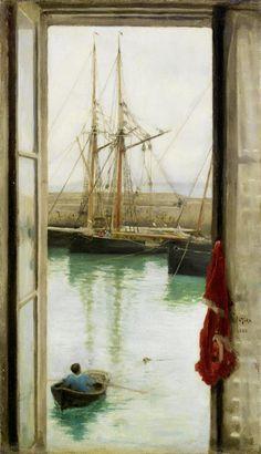 Heaveninawildflower - Harbour Dielette, Normandy by Henry Scott Tuke...