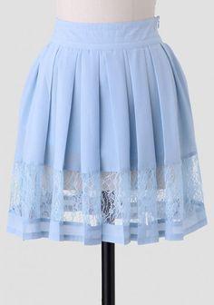 Light As Air Pleated Skirt