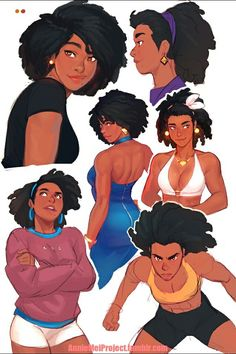 68 ideas for drawing people poses woman artists Female Character Design, Character Design References, Character Drawing, Character Design Inspiration, Character Illustration, Animation Character, Character Sketches, Black Girl Art, Black Women Art