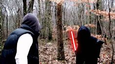 Awesome light saber fight scene.