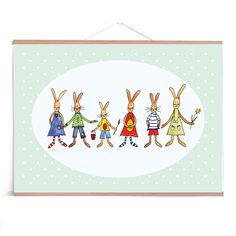 "Grußkarten-Set ""Hasenparade"" (5er-Set)  Ostern Illustration, Kids Rugs, Decor, Happy Easter Day, Graphic Prints, Easter Bunny, Draw, Decoration, Kid Friendly Rugs"