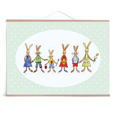 "Grußkarten-Set ""Hasenparade"" (5er-Set)  Ostern Illustration, Kids Rugs, Vintage, Etsy, Decor, Graphic Prints, Easter Bunny, Craft Gifts, Easter Activities"