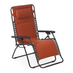 Delicieux Outdoor Coral Coast Padded Extra Wide Zero Gravity Chair Terra Cotta