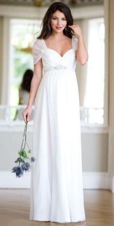 Silk Sophia Maternity Wedding Gown Ivory by Tiffany Rose