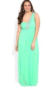 Deb Shops #mint #plus #prom #dress $102.90