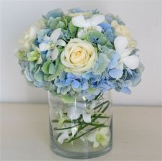 blue and white wedding flowers | Wedding Flowers Blog: Claudia's Pale Blue,Green,Ivory Wedding Flowers ...
