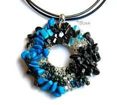 "Necklace ""Azteka"" by TOSZKA on Etsy"