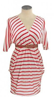 Cute Gameday dress for Fall Saturdays - perfect for OleMiss. Ladies. Just swap out the belt to match your teams'!