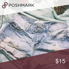 Shorts ❋ light washed distressed shorts // ask questions below // always open to offers Forever 21 Shorts Jean Shorts