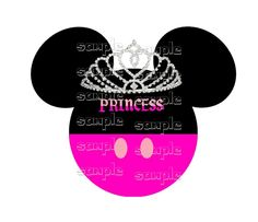 Disney Minnie Princess  Fabric Iron on  T-Shirt transfer Kids Free file download #TShirttransfer