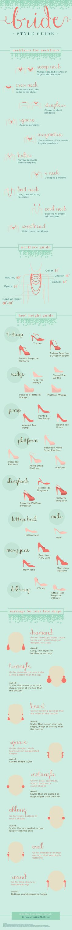 Check out this awesome bridal accessory guide that helps you find the perfect jewelry and shoes for your Wedding Day!