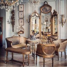 65 Incredible French Country Living Room Decor Ideas - Home Decor Design French Home Decor, French Country Decorating, Vintage French Decor, Modern French Decor, Cottage Decorating, Living Room Designs, Living Room Decor, Living Rooms, French Country Living Room