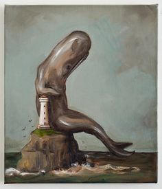 untitled- oil on canvas, 355 x 300 mm, 2013 Whale Art, Surreal Art, Art Forms, New Zealand, Surrealism, Oil On Canvas, Contemporary Art, Weird, Art Gallery