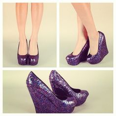 a33cc31f7471 Glitter Wedges!  glitter  shoes  wedges  iphoneonly  summer  fashion