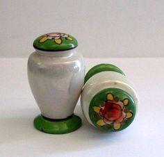 Handpainted Japan Salt Pepper Shakers. TudorRose Booth