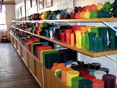 the Fiestaware outlet.