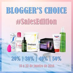 Amostras e Passatempos: Blogger's Choice #SalesEdition by Skin