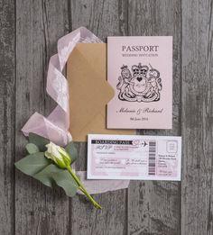 Personalised Passport Destination Travel Overseas Wedding Invitation - EBay option