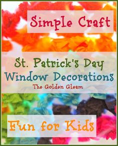 contact paper craft window decorations for St Pat's Day Holiday Crafts, Holiday Fun, Spring Crafts, March Crafts, St Pattys, St Patricks Day, Saint Patricks, Happy Mom, Happy Kids