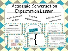 """This FREEBIE is the first lesson in my Academic Conversation Unit, which teaches students how and why it is important to converse respectfully and properly.   http://www.teacherspayteachers.com/Product/Academic-Conversation-Unit-Power-Point-214-slides-1522659   It is based off the book, """"Academic Conversations: Classroom Talk that Fosters Critical Thinking and Content Understandings"""" By Jeff Zwiers and Marie Crawford."""